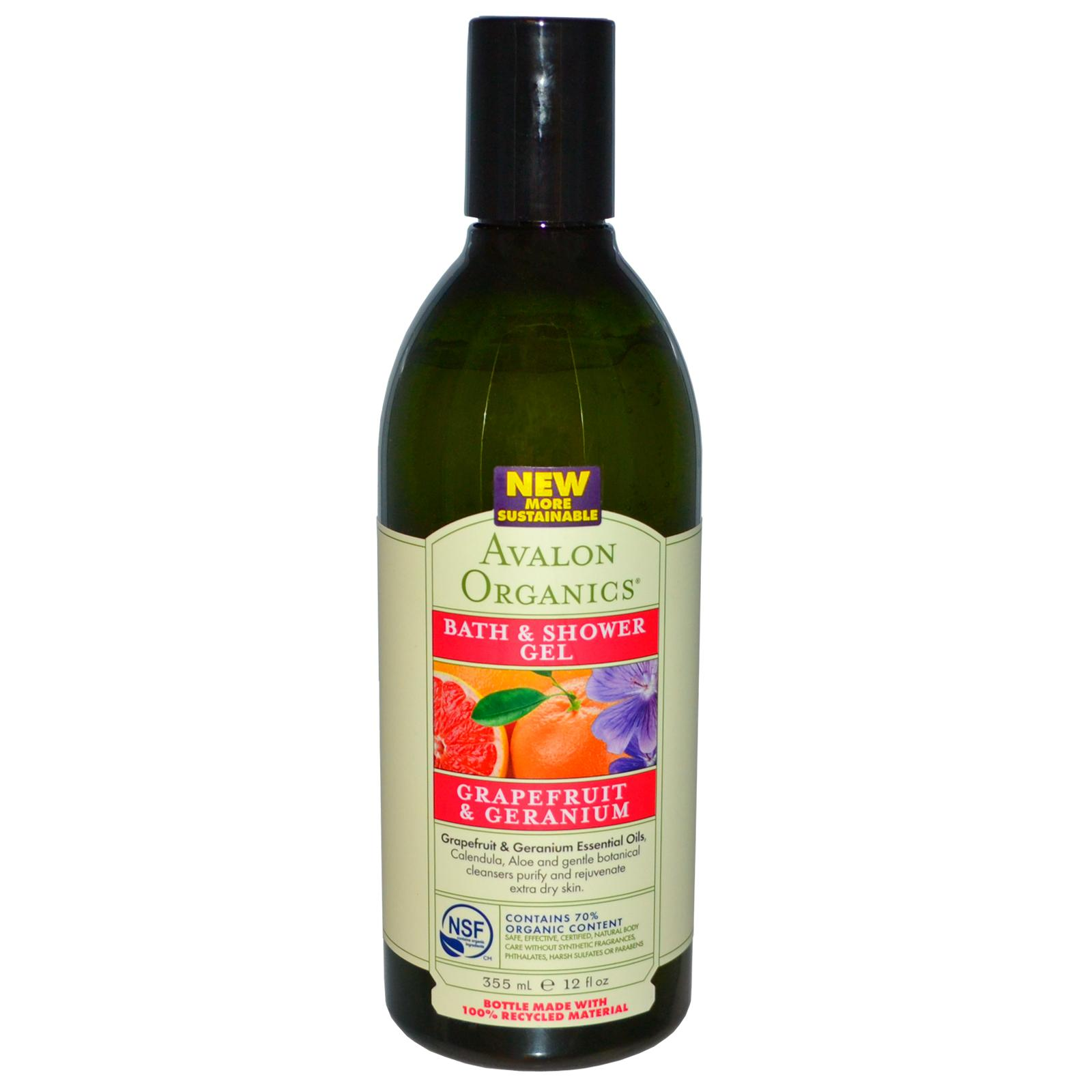 Avalon Organics Bath & Shower Gel Grapefruit & Geranium - Refreshing, 12 oz, From Avalon Organic Botanicals at Sears.com