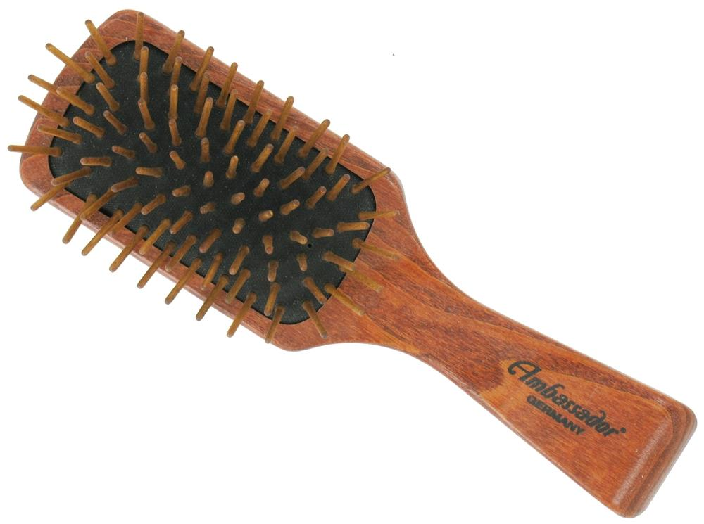 Buy brushes & combs great - Hairbrush Ashwood Mens Rectangle Wood Pins 5124, Fuchs Brushes